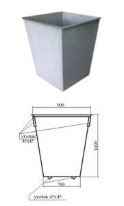 Контейнер для ТБО 0,75 куб.м. (арт. 1051)